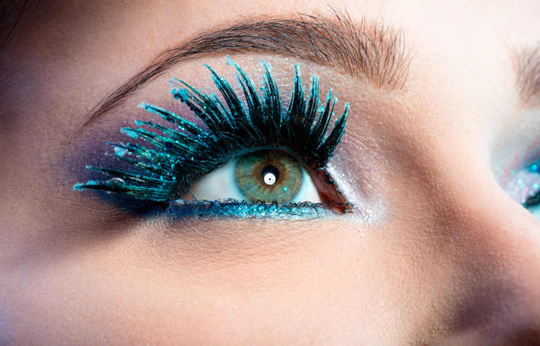 Colorful Eyelash Extensions